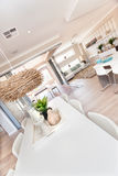 Luxury home interior with a close up of a dining area Royalty Free Stock Image