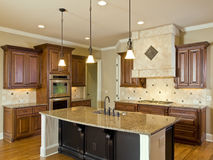 Luxury Home Interior Kitchen Royalty Free Stock Photos