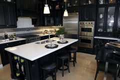 Luxury home kitchen Stock Photo