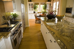 Luxury home kitchen. Royalty Free Stock Photography