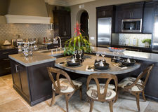 Luxury home kitchen. Royalty Free Stock Image