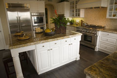 Luxury home kitchen stock images