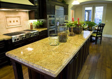 Luxury home kitchen royalty free stock image