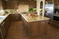 Luxury home kitchen. stock photo