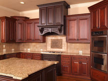 Luxury Home Kitchen center island Stock Image