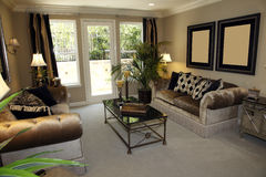 Luxury home living room royalty free stock photography