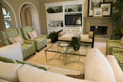 Luxury home living room Stock Images