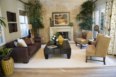 Luxury home living room Stock Photos