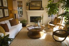 Luxury home living room. royalty free stock photo
