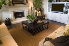 Luxury home living room. Royalty Free Stock Photos