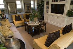 Luxury home living room Royalty Free Stock Photos