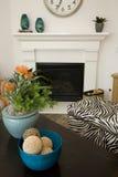 Luxury home living room. Stock Photos