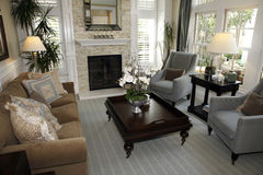 Luxury home living room. Royalty Free Stock Images