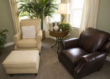 Luxury home lounge Stock Images