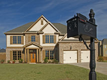 Luxury home with mail box Royalty Free Stock Image