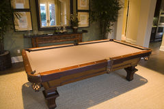 Luxury home pool table. Stock Images