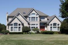 Luxury home with red door Stock Photos