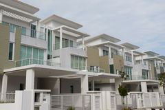 Luxury Home. In a residential development Stock Photos