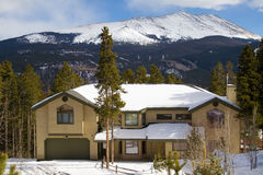 Luxury Home in the Rocky Mountains Royalty Free Stock Images