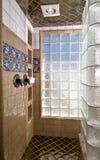 Luxury home shower stock photos