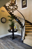 Luxury home staircase. Royalty Free Stock Photo