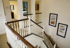 Luxury home staircase Stock Photo