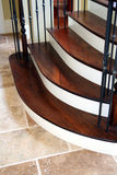 Luxury Home Staircase. A beautiful staircase in a luxury home Stock Images