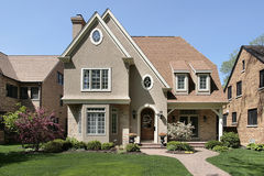 Luxury home in suburbs Stock Photography