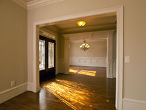 Luxury Home sunburst entrance Stock Photo
