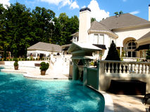 Luxury Home Swimming Pool Royalty Free Stock Photography