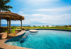 Luxury home with swimming pool Stock Photography