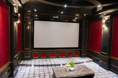 Luxury home theater Stock Photography