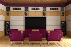 Luxury home theater room Royalty Free Stock Images
