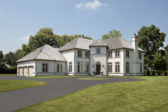 Luxury home with three car garage Royalty Free Stock Image