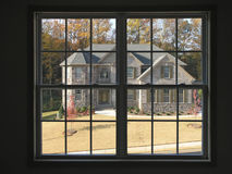 Luxury Home thru Window 2 Royalty Free Stock Photo