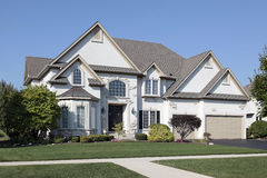 Luxury home with triple garage Stock Photography