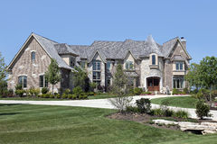 Luxury home with turret Stock Photo