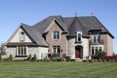 Luxury home with turret Royalty Free Stock Image