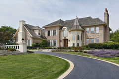 Luxury home with turret Stock Photography