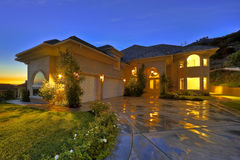 Luxury Home at Twilight Royalty Free Stock Images