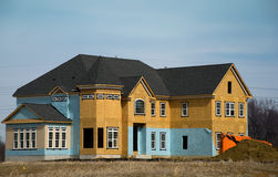 Luxury Home Under Construction 1 Stock Photos