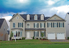 Luxury Home Under Construction 4. Large luxury home in a residential development Royalty Free Stock Photos