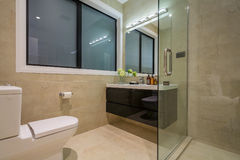 Luxury  home washroom Royalty Free Stock Image