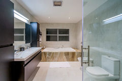 Luxury  home washroom Stock Photography