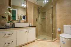 Luxury  home washroom Stock Photos