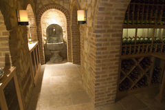 Luxury home wine cellar. Stock Image