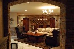 Luxury home wine cellar. Wine cellar in a luxury home Stock Photos