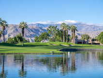 Luxury homes along a golf course in Palm Desert Royalty Free Stock Image