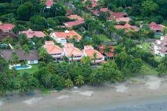 Luxury homes on the beach Stock Photos