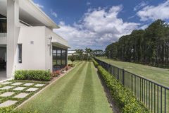 Luxury Homes. Golf Course frontage House with pool luxury house located in Australia. Copyright 2015 Stock Photography